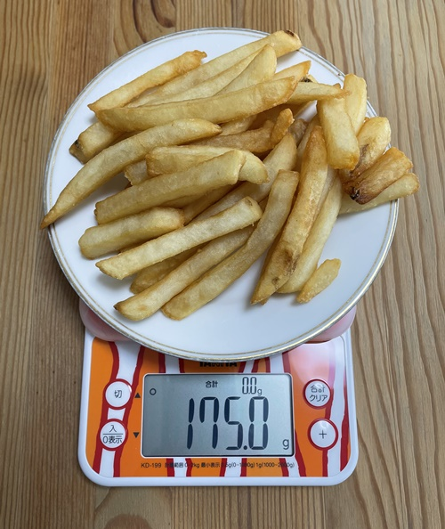 KFCポテトLサイズの重さ